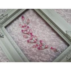 Красив аксесоар за коса в розови нюанси