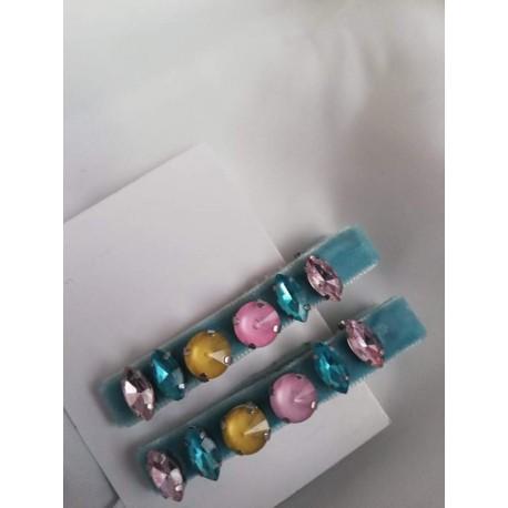 "Фиба ""Candy"" синьо - handmade"