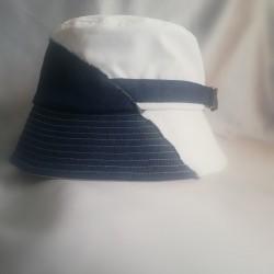 Half Denim /White Bucket Hat
